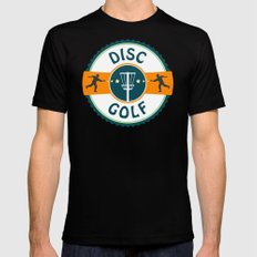 Disc Golf X-LARGE Black Mens Fitted Tee