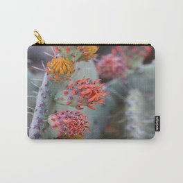 Orange Cacti Blossoms Carry-All Pouch