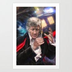 3rd Doctor Who Art Print