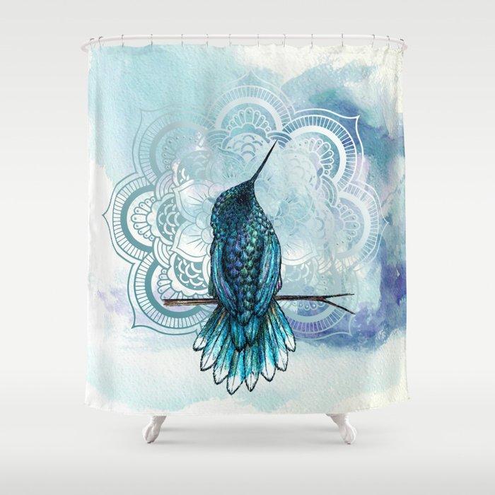 Aquarela Hummingbird Shower Curtain
