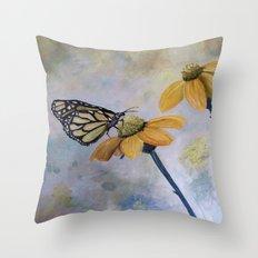 Flutter Butterfly Throw Pillow