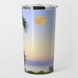 Palms on Full Moon Travel Mug