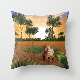 Florida Savanah Throw Pillow