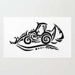 Backhoe Tribal Tattoo Rug