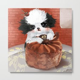 Japanese Chin Waiter Metal Print