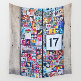 The Secret behind the Door Number 17 of Catania - Sicily Wall Tapestry