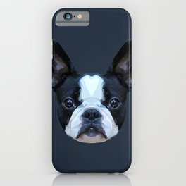 Frenchie / Boston Terrier // Navy iPhone Case