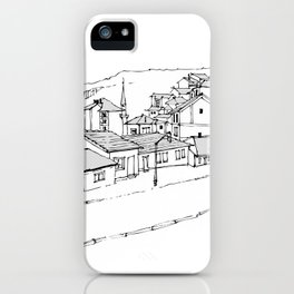 town in the mountains iPhone Case