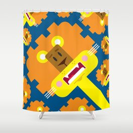 Cute Cartoon Lion Pattern Shower Curtain