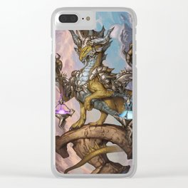 Zodiac Dragons Calendar Libra Clear iPhone Case