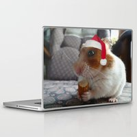 hamster Laptop & iPad Skins featuring Christmas Hamster by VHS Photography