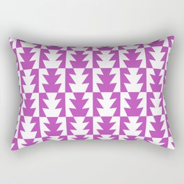 Art Deco Jagged Edge Pattern Magenta Rectangular Pillow