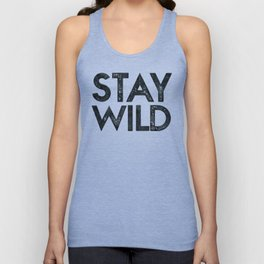 STAY WILD Vintage Black and White Unisex Tank Top
