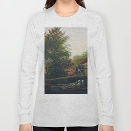 An Old Mill 1859 By Lev Lagorio | Reproduction | Russian Romanticism Painter Long Sleeve T-shirt