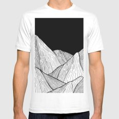 As The Mountains Rise Up Mens Fitted Tee White MEDIUM