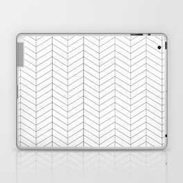 Herringbone - Black + White Laptop & iPad Skin