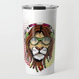 Rastafari Lion Travel Mug