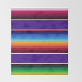 Traditional Mexican Serape in Purple Throw Blanket