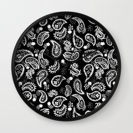 playful paisley Wall Clock