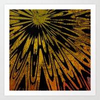 Native Tapestry in Gold Art Print