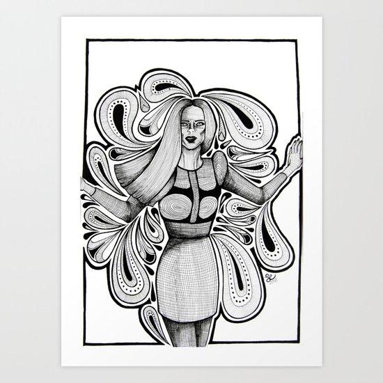 Wooden Swirls Art Print