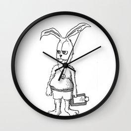 Rabbit Coach Wall Clock
