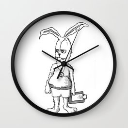 Rabbit Coach Wall Clock
