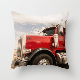 Red truck California Throw Pillow