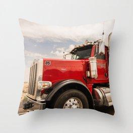 Red truck California Throw Pillow