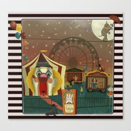 Whimsical Circus Canvas Print
