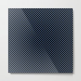 Black and Riverside Polka Dots Metal Print