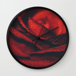 red rose I Wall Clock