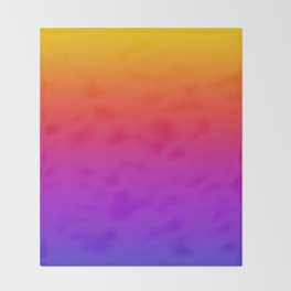 Colorful Gradient Pattern Neon Abstract Rainbow Throw Blanket