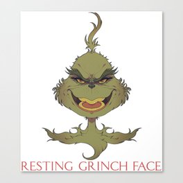 The resting grinch face Canvas Print