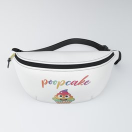 Poopcake- Colorful unicorn poop muffin cake Fanny Pack