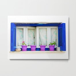 Aegean window Metal Print