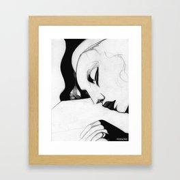 Sleeping Girl Framed Art Print