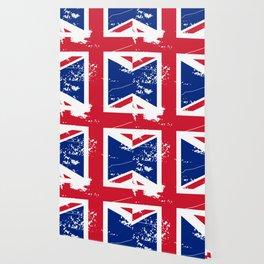 United Kingdom: Distressed Union Jack Flag Wallpaper