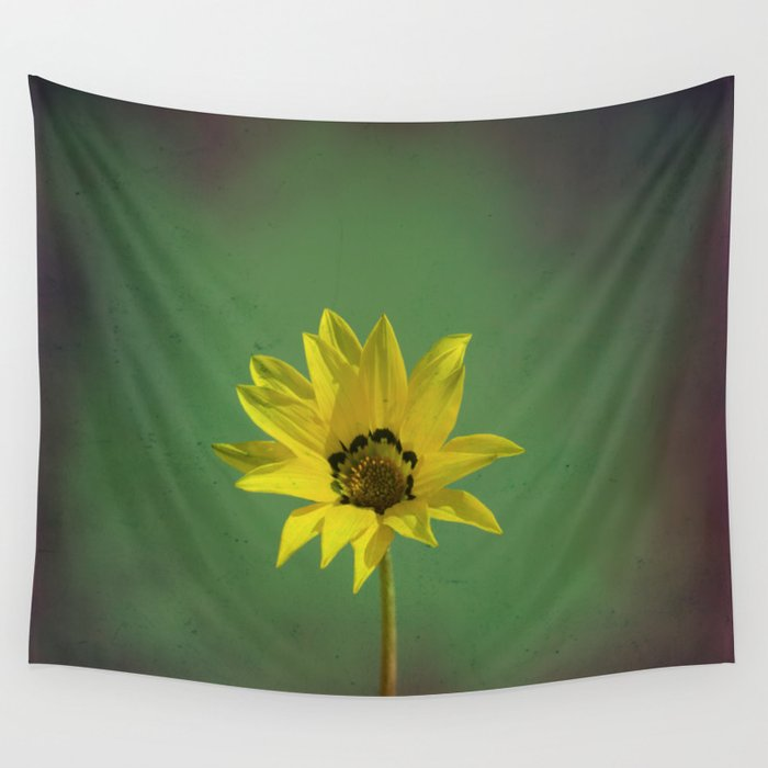 The yellow flower of my old friend Wall Tapestry