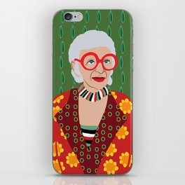 Iris Apfel iPhone Skin