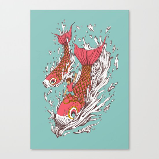 Ride with Koi Canvas Print