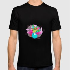 Fortune Feather Teller MEDIUM Mens Fitted Tee Black