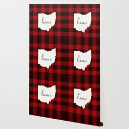 Ohio is Home - Buffalo Check Plaid Wallpaper
