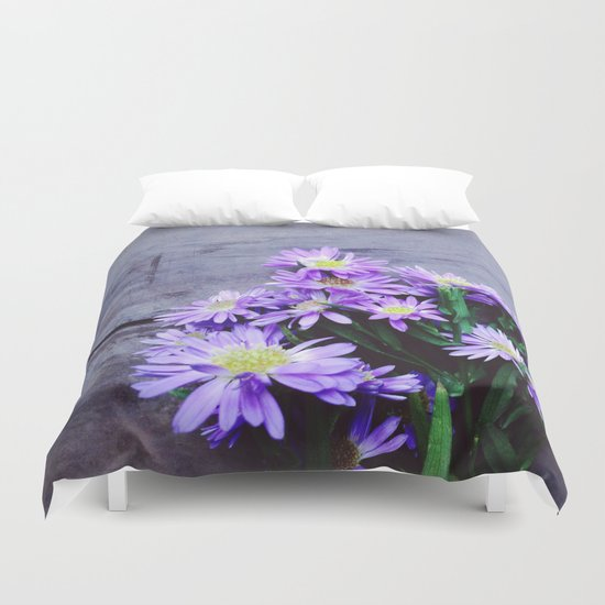 Pretty Blue Flowers Duvet Cover