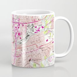 Vintage Map of Roanoke Virginia (1963) Coffee Mug