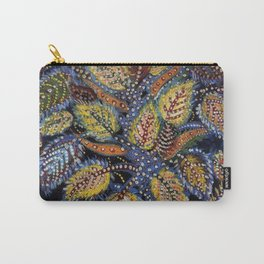Blue Leaves of Autumn by Seraphine Louis Carry-All Pouch