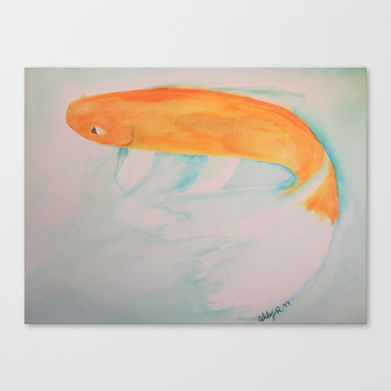 Watercolor Koi Canvas Print