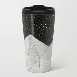 Stripe Mountains Travel Mug