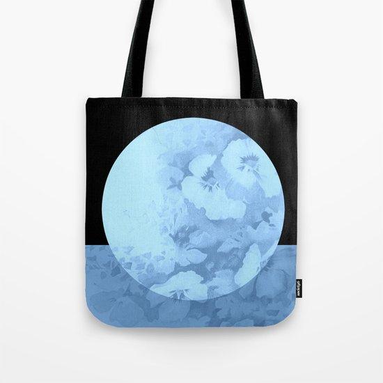 blue moon floral Tote Bag