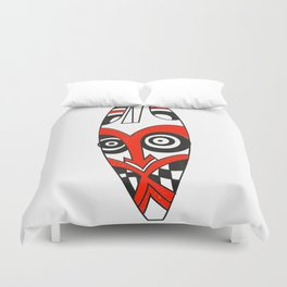 Tribal mask present bright Duvet Cover